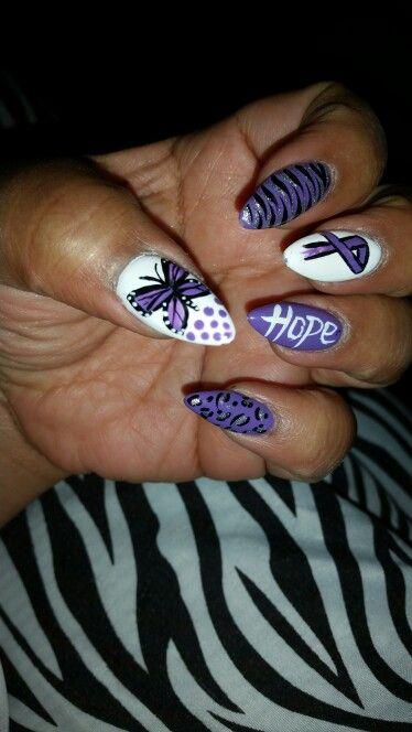 Lupus Awareness Nail Design Purple Nails Pastel Nails Designs Cute Acrylic Nails