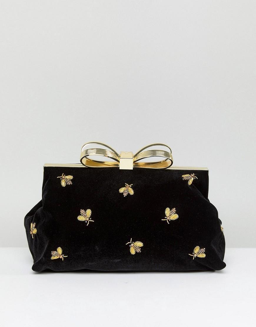 a89bc5c0ce  ASOS -  Ted Baker Ted Baker Bee Embellished Clutch Bag - Black -  AdoreWe.com