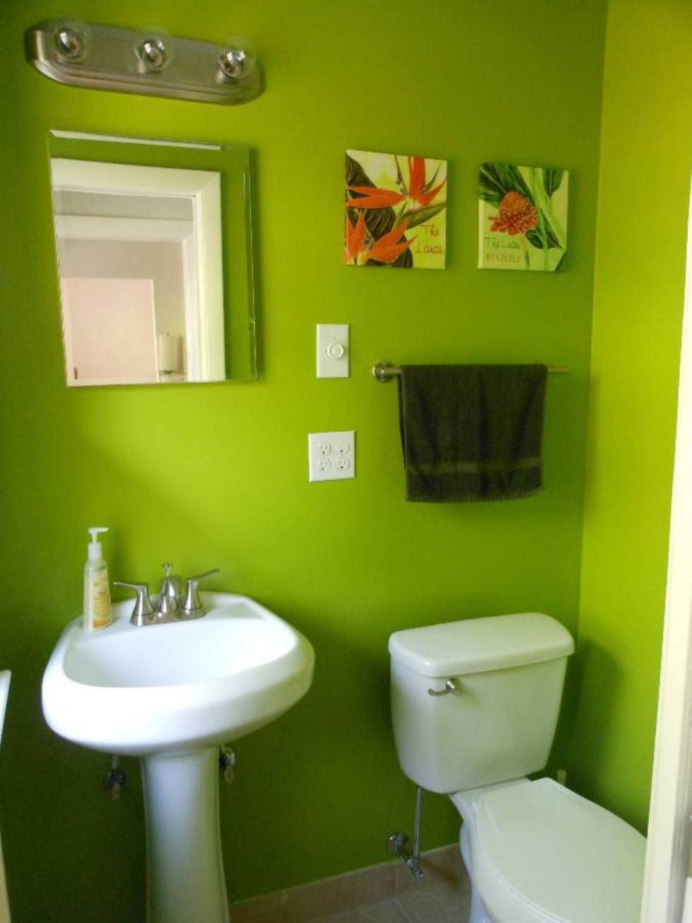lime green bathroom decorating ideas