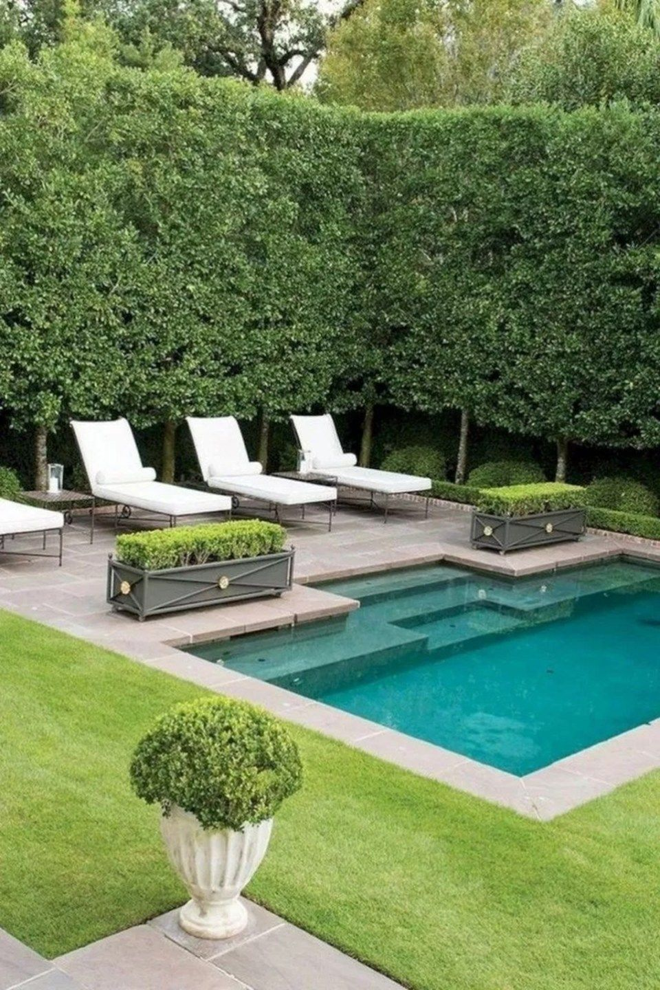 20 Modern Swimming Pool Design Ideas For Your Beautiful Home Small Backyard Design Small Pool Design Backyard Pool Designs