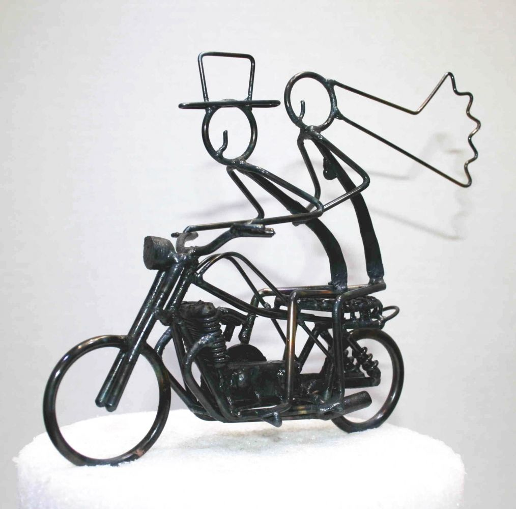 Cool Cake Topper For A Motorcycle Themed Wedding Renewal Time