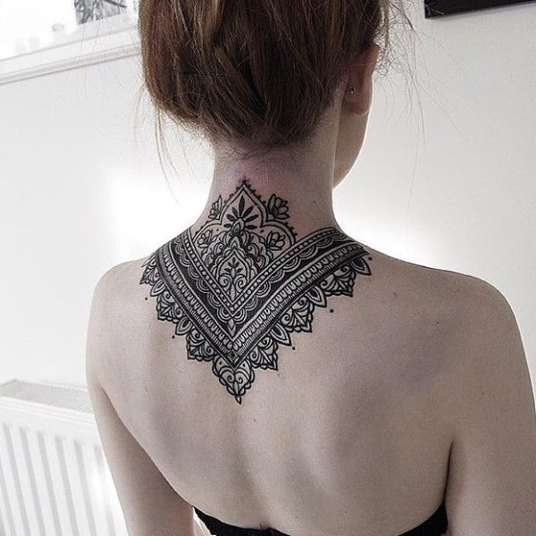 Mandala Tattoo Neck Back Neck Tattoos Women Back Of Neck Tattoo Back Of Neck Tattoos For Women