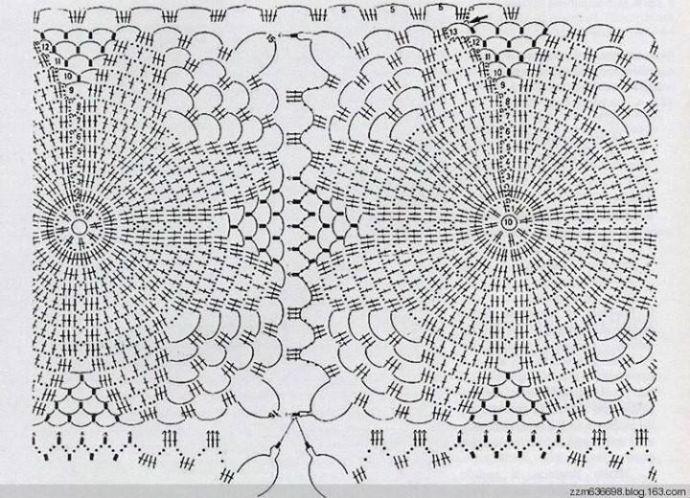 Patrón de motivos florales para chaqueta   crochet   Pinterest