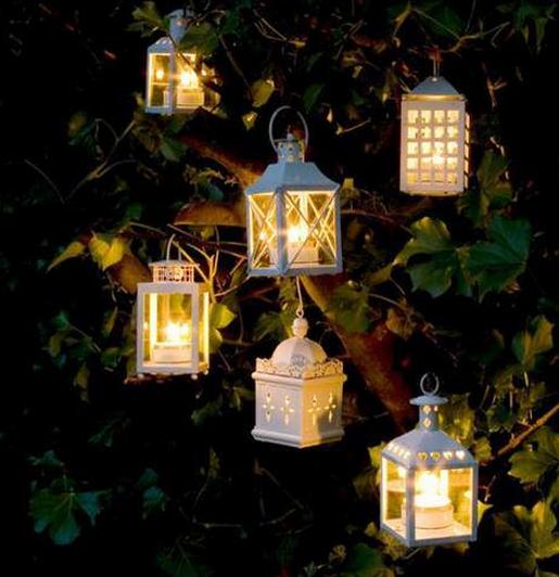 Lanterns Hanging In Tree Hanging Candle Lanterns Candle