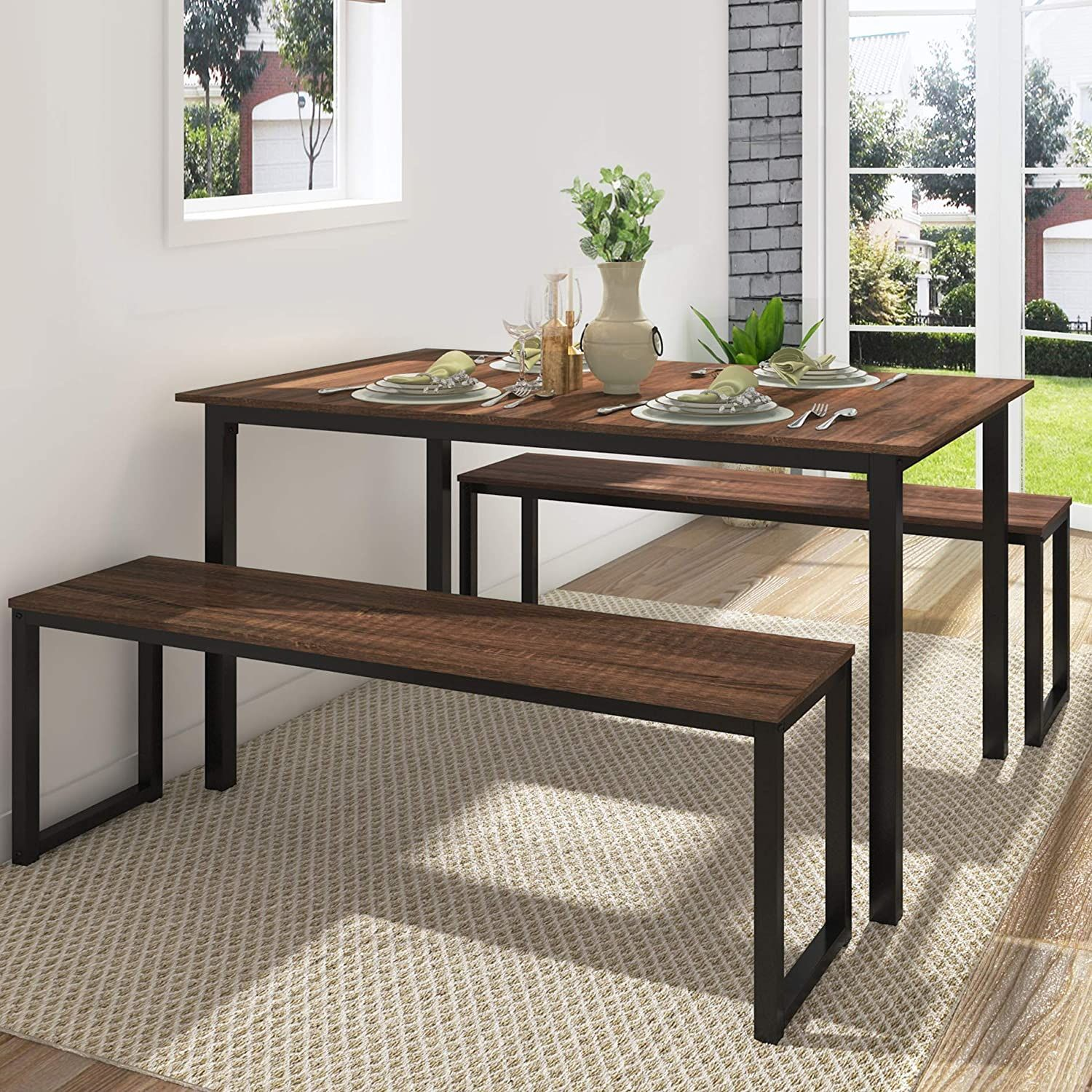 45+ Dining table with 2 benches Best Seller