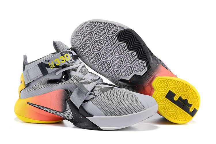 Suppliers Mens NIKE LEBRON Free Shipping SOLDIER 11 knight Red/Yellow Basketball Shoes cheaps