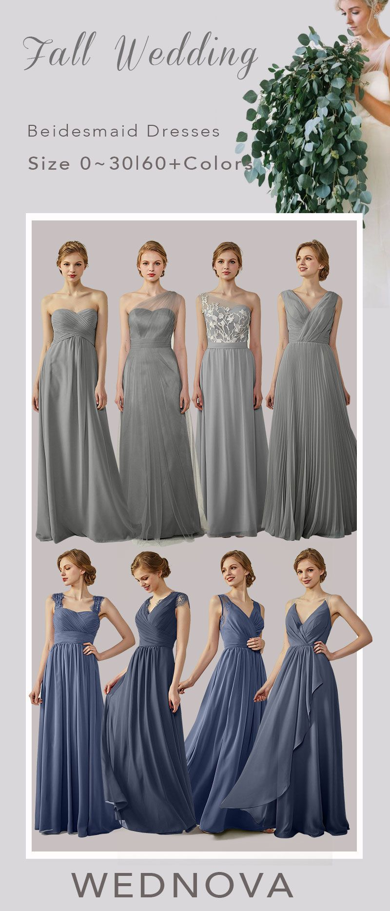 Fall amazing cup cap bridesmaid dress with lace gunmetal straps