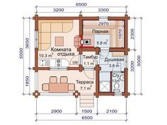 Проект бани 6 на 5 | Дом, Гостевой дом, Проекты