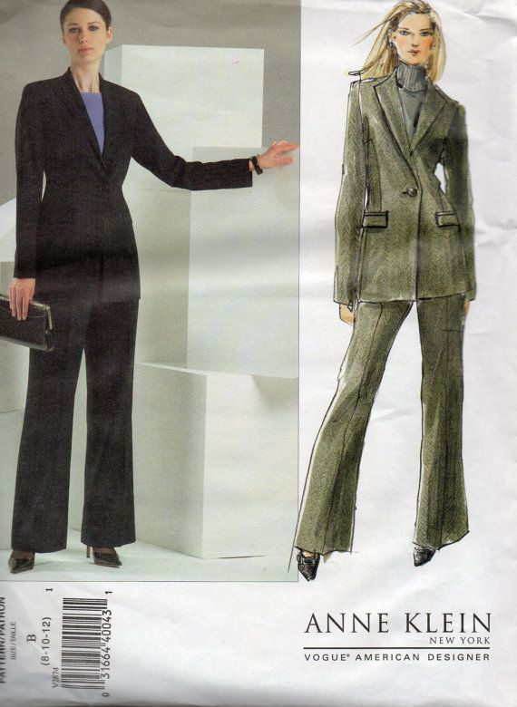 Vogue 2874 Misses Below Hip Jacket and Pants Pattern Designer SUIT ...
