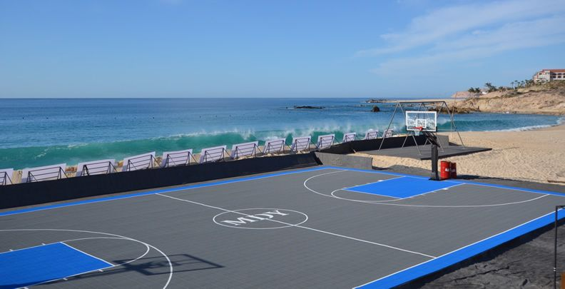 Full basketball court in cabo san lucas built by deshayes for Built in basketball court