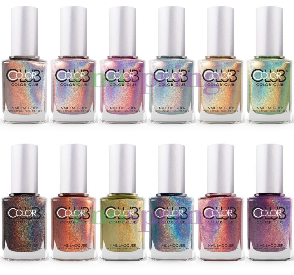 Color Club Halo Hues Holographic Nail Polish Lacquer Set Of 12