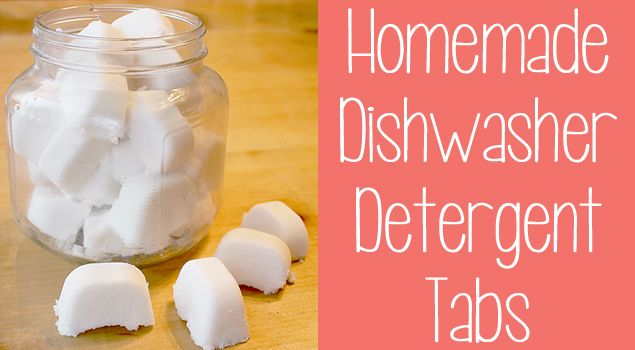 Natural homemade dishwasher tabs. I have to try this out, it looks way too easy.