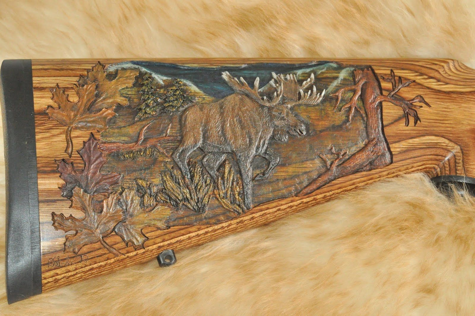 Wood Carving Dremel Awesome Pics Gunstock Woodcarving And Engraving Kevins