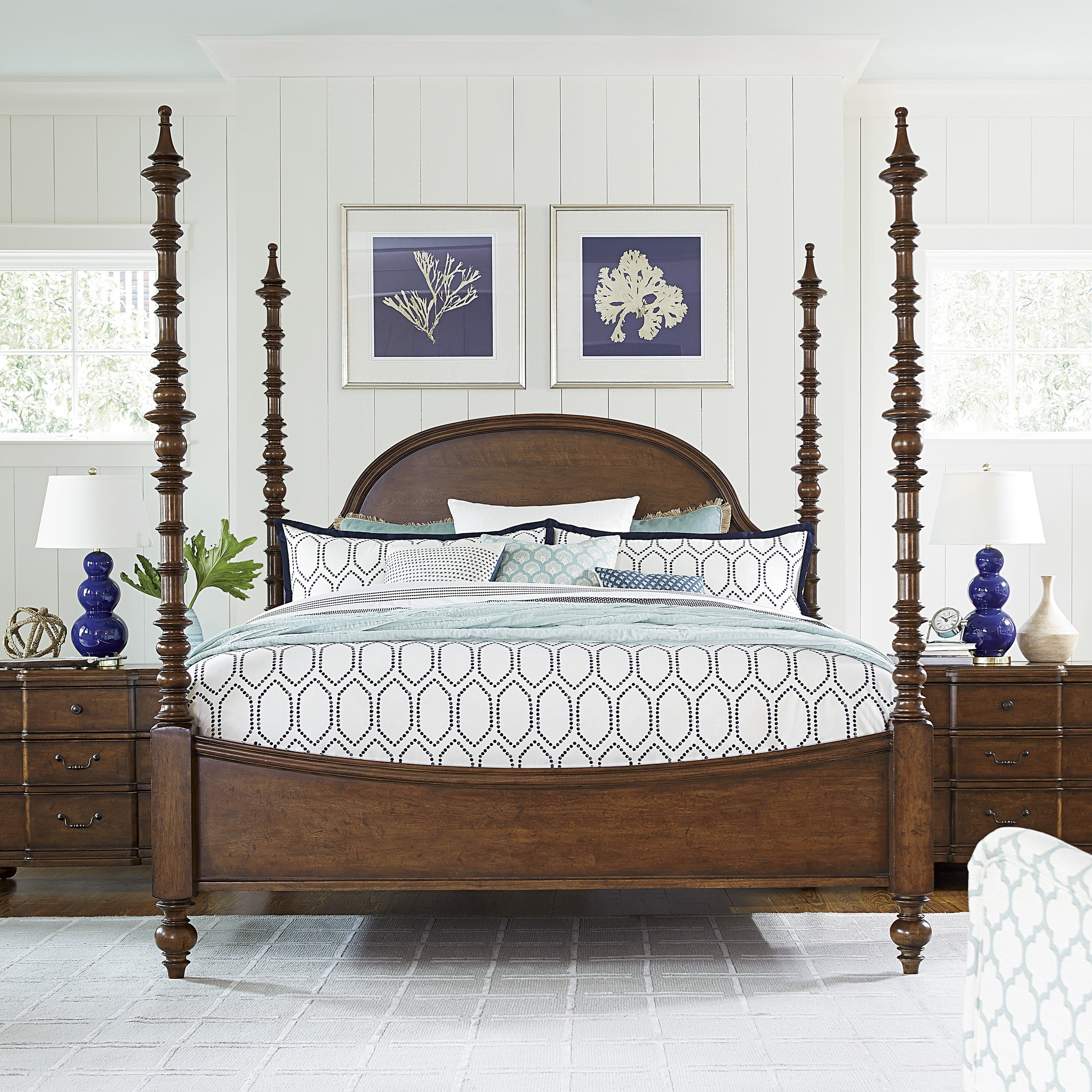 Paula Deen Dogwood Poster Bed - Soaring, turned spindle posts give ...