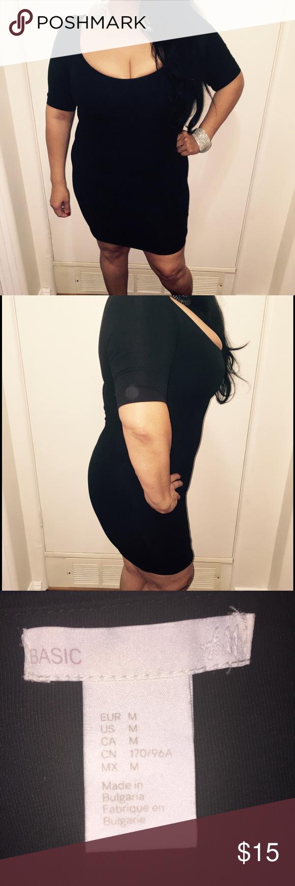 H and m bodycon dress with leggings