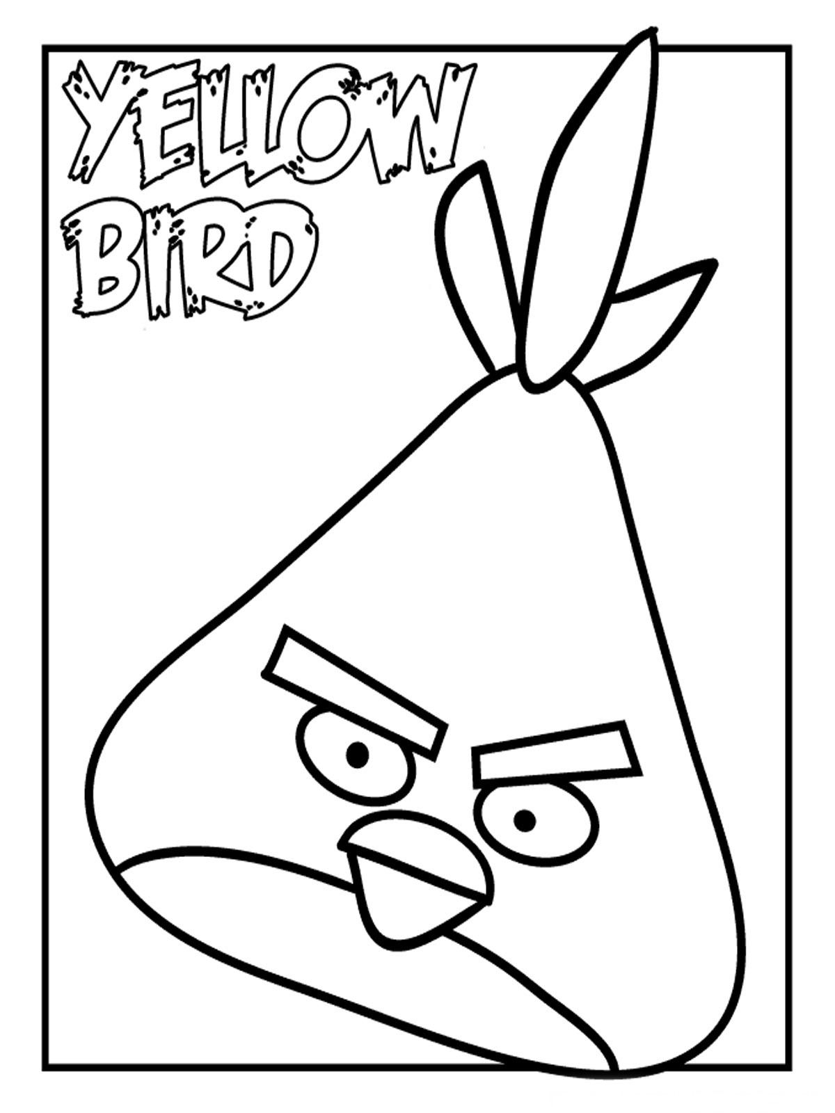 Yellow Angry Birds Kids Coloring Pages Printable   ANGRY BIRD PARTY ...