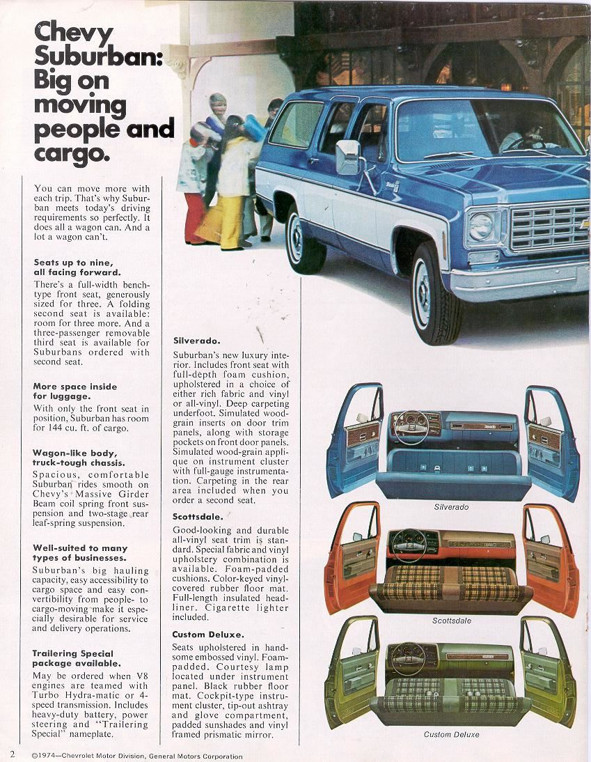 hight resolution of 1975 chevy suburban interior