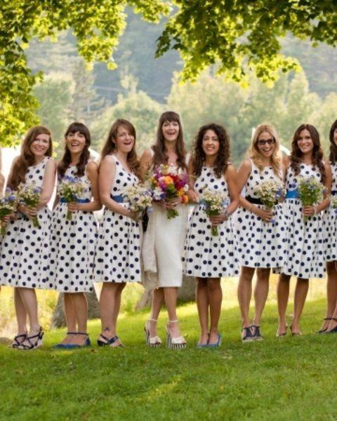 33+ Polka dot bridesmaids dress information