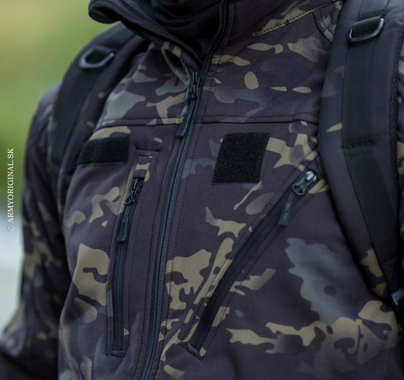 4df1ea069 Bunda SCU 14 Multitarn Black, Miltec Softshell, Military Jacket, Army  Fatigue Jacket,