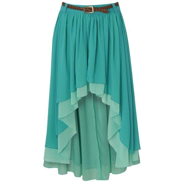 Red or Dead Bess Dip Hem Skirt ($24) ❤ liked on Polyvore