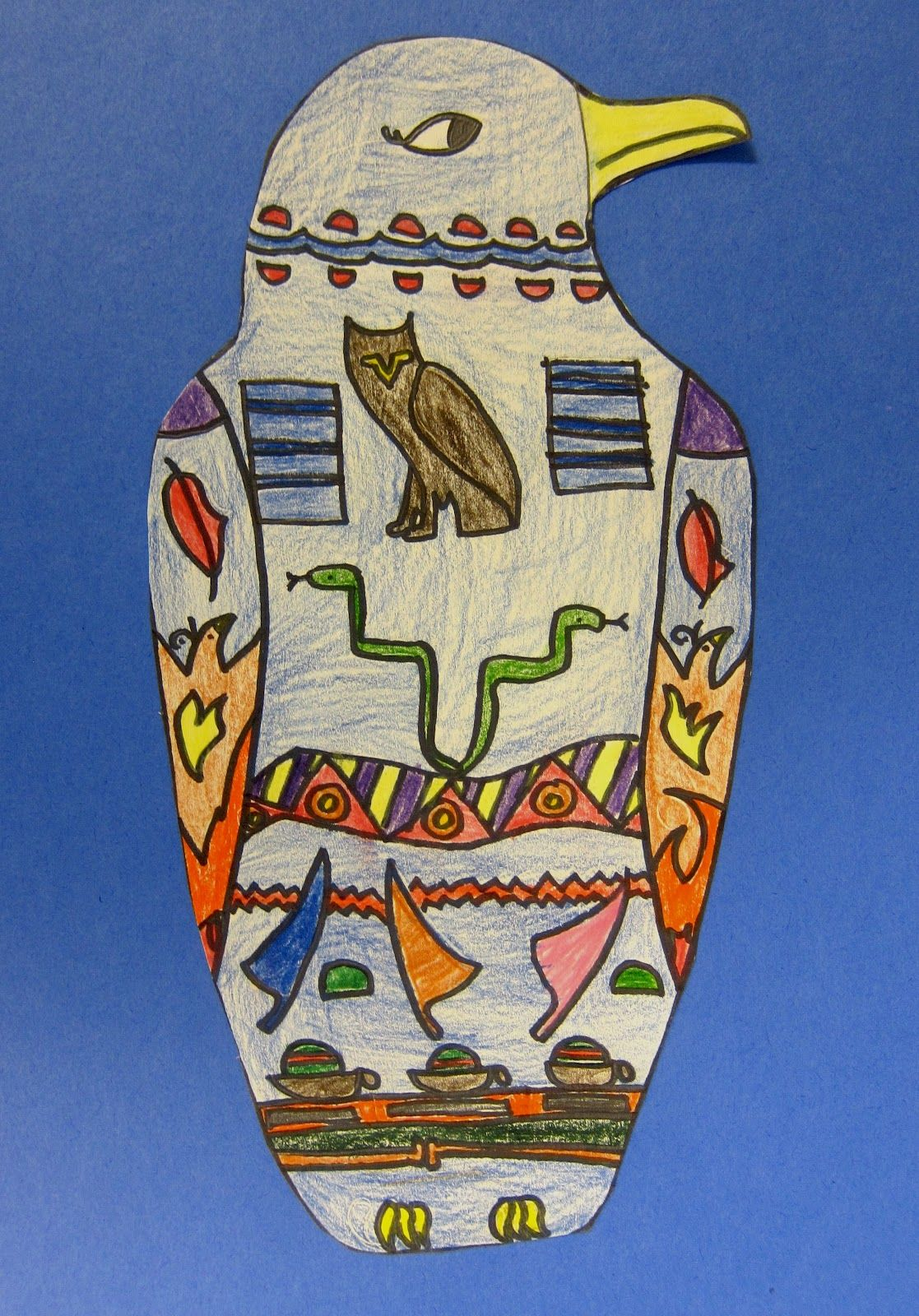 Egyptian Sarcophagus Drawings 4th 5th Grade