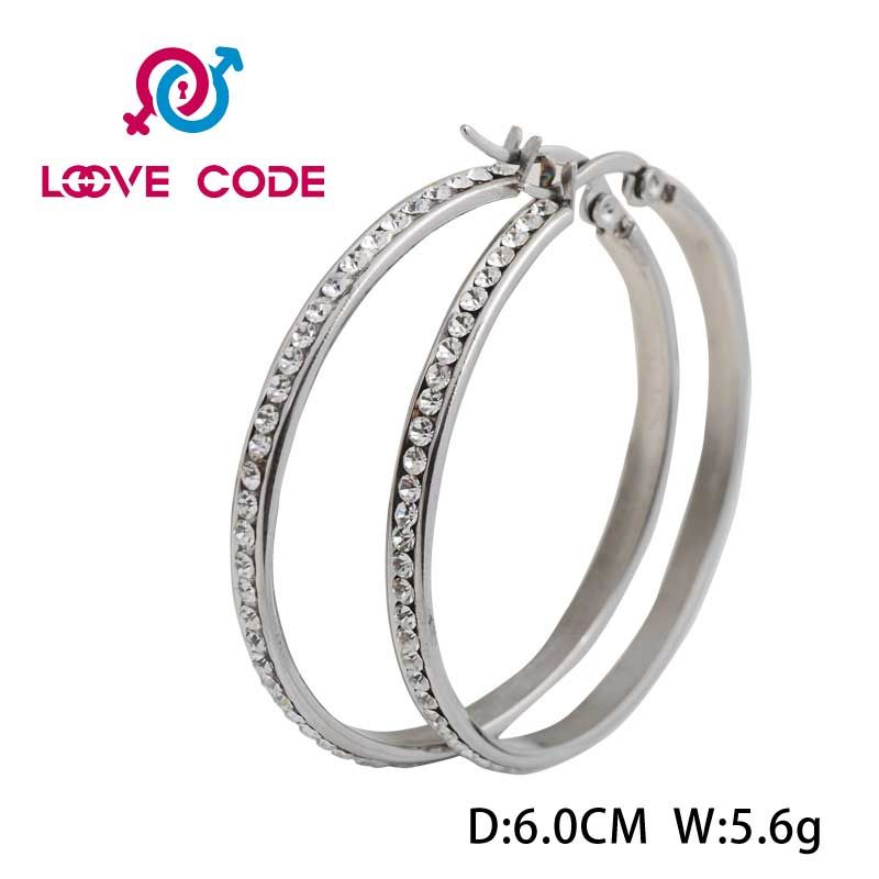 Fake Diamond Hoop Earrings For Women Whole
