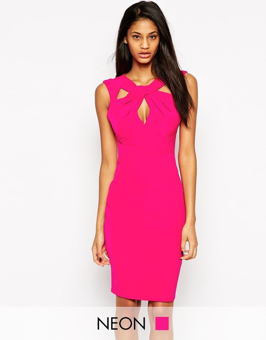Lipsy knot front pencil dress looks pinterest club party