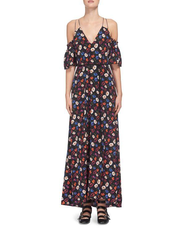 Whistles Silk Pansy-Print Dress  0d430e03c