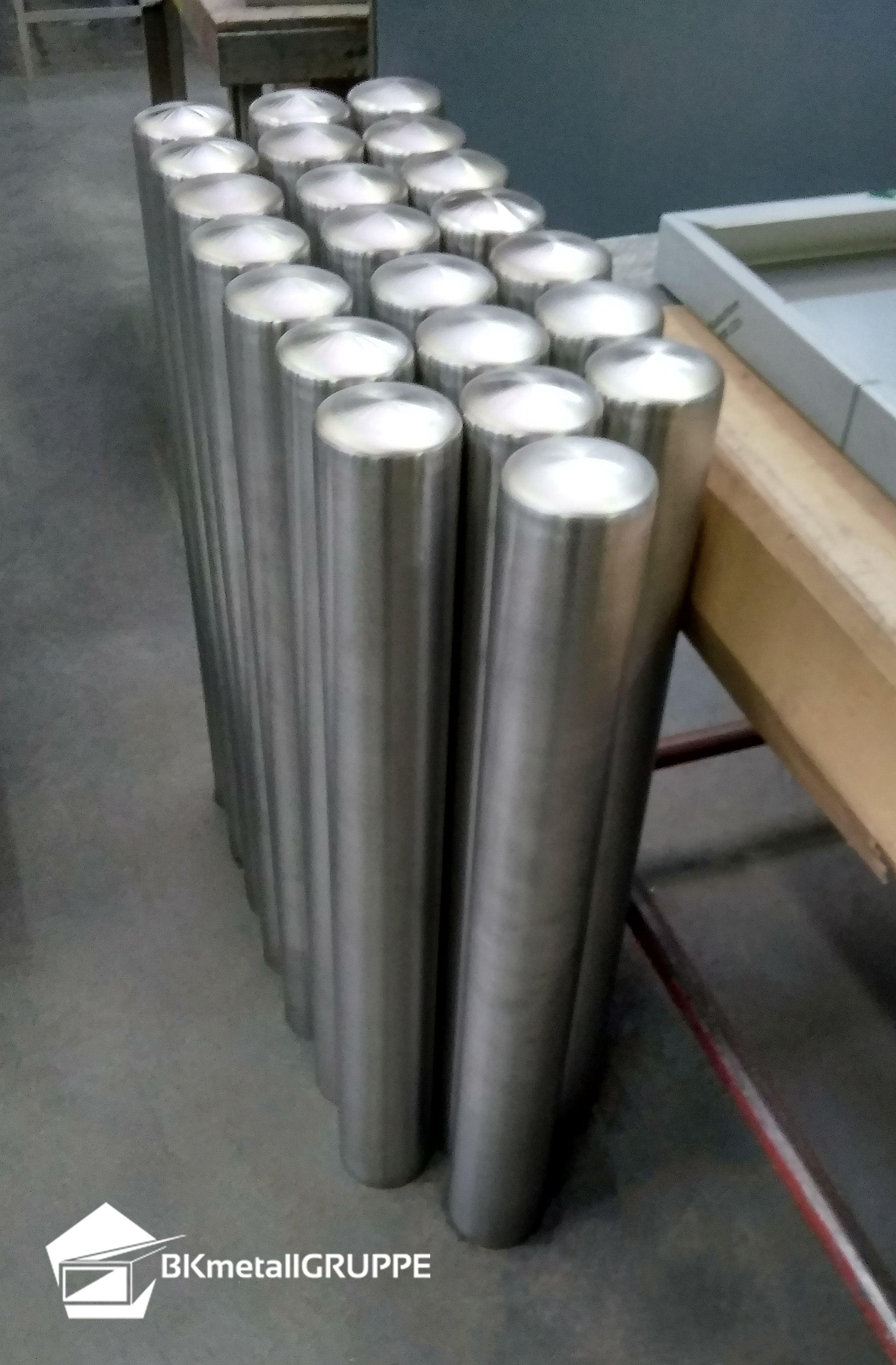Edelstahlpoller Stahl Metall Edel