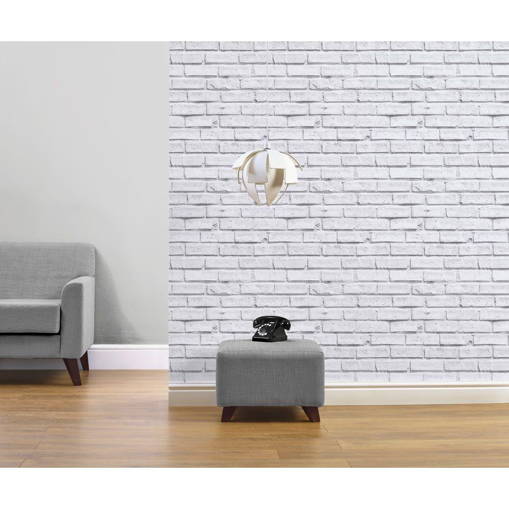 White Brick Wallpaper Wilko Bits And Bobs Pinterest White