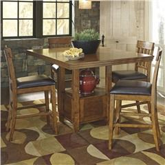 Ashley Ralene 7 Piece Rustic Counter Height Dining Set