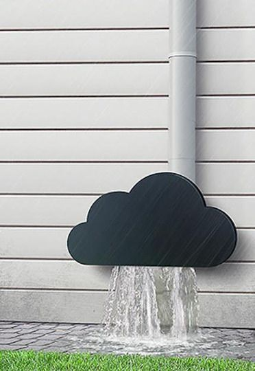 Clever Downspouts Fun Ways To Make The Rain Rain Go Away Rain Chain Downspout Clouds