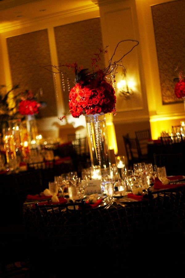 Red Floral Centerpieces - Bitsy Bride (shared via SlingPic) | Red ...