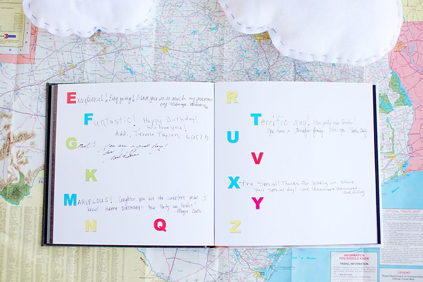 Create An Amazing Abc Book Guestbook Birthday 1 Year Old