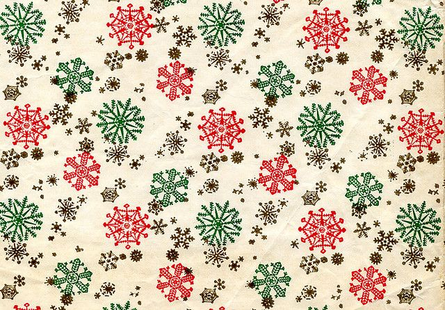 Snowflakes Vintage Christmas Wrapping Paper Vintage Wrapping Paper Xmas Wrapping Paper