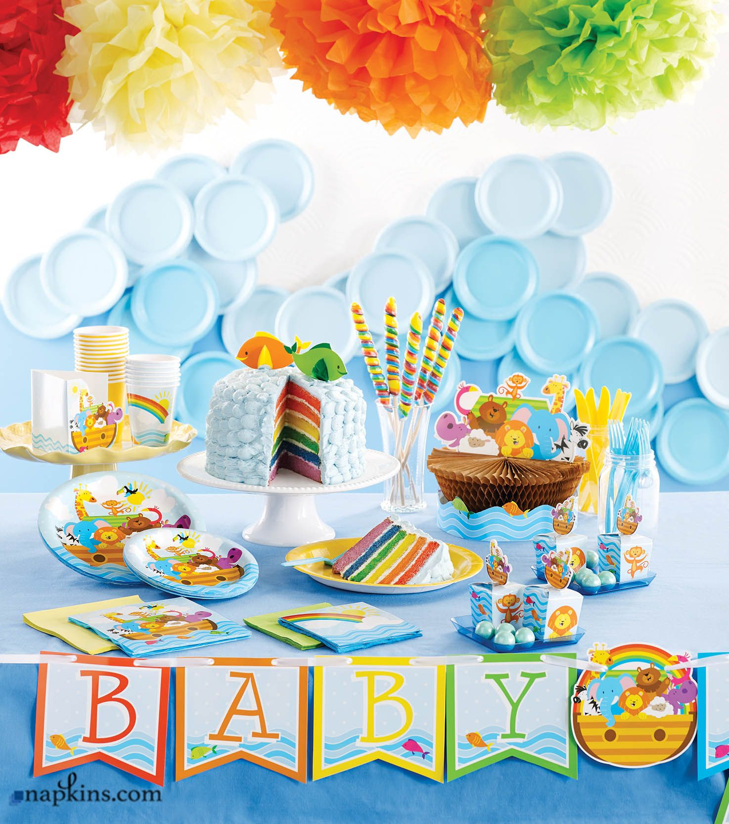 Baby Shower Party By Adding This Fun, Colorful, And High