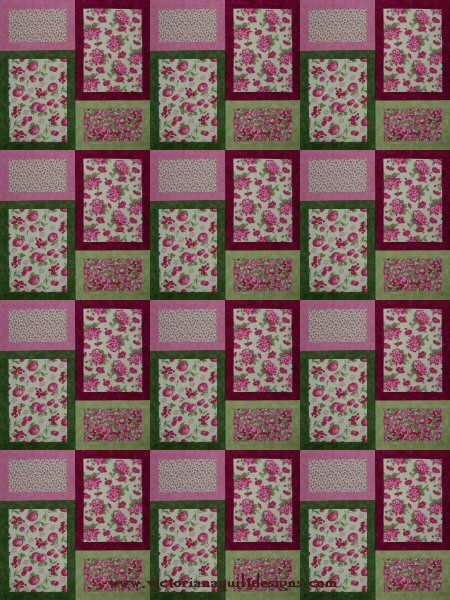 Tutti Fruit Quilt Pattern - This Quick & Easy quilt pattern is available exclusively through my site here: http://www.victorianaquiltdesigns.com/VictorianaQuilters/PatternPage/TuttiFruitti/TuttiFruitti.htm #quilting #easy