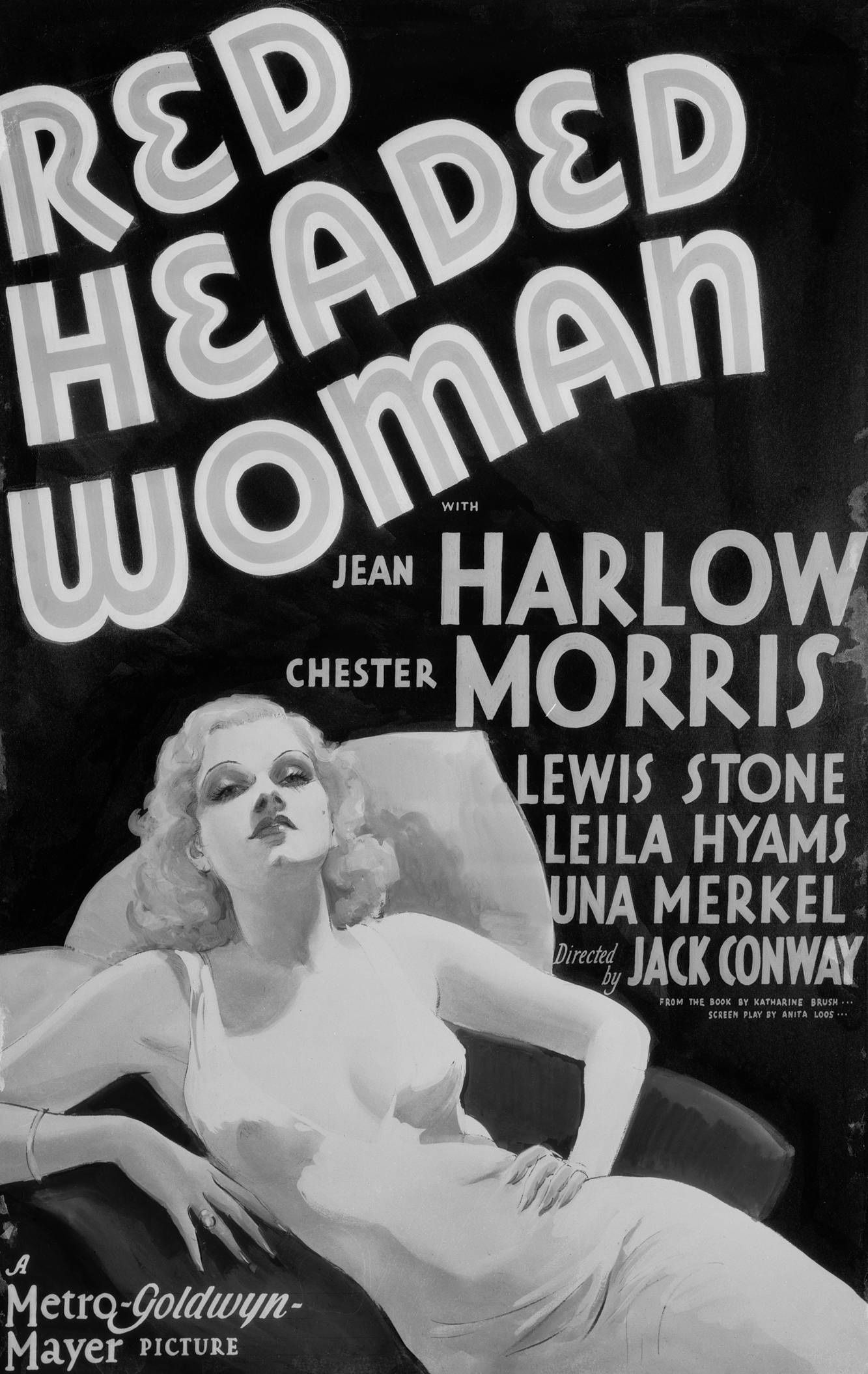 PRINT IMAGE PHOTO RECKLESS MOVIE POSTER Jean Harlow RARE HOT VINTAGE 2 G10