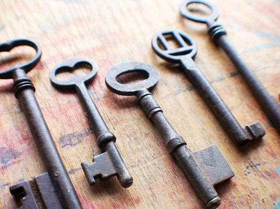 Rustic Antique Skeleton Keys  Instant Collection // by ashburylane