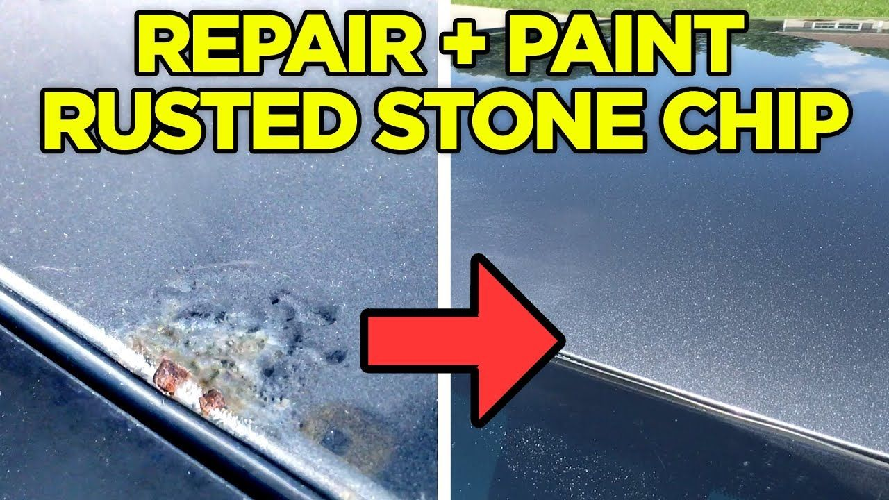 How to fix rust bubble under paint from a rock chip