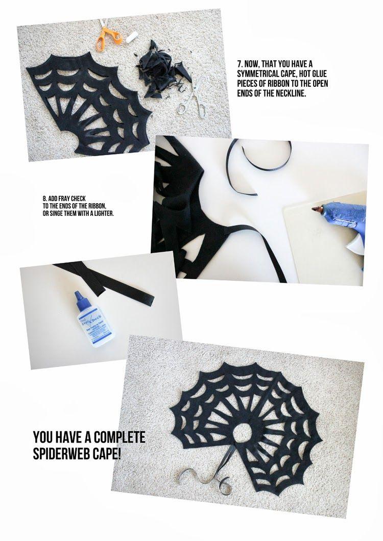 comment fabriquer une cape en toile d 39 araign e sans couture bricolage pinterest halloween. Black Bedroom Furniture Sets. Home Design Ideas