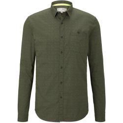 Photo of Tom Tailor Denim Herren schlichtes Hemd, grün, Gr.L Tom TailorTom Tailor