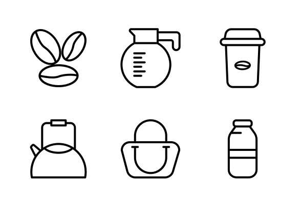 Coffee Shop Icons By Gagego Shop Icon Coffee Shop Icon