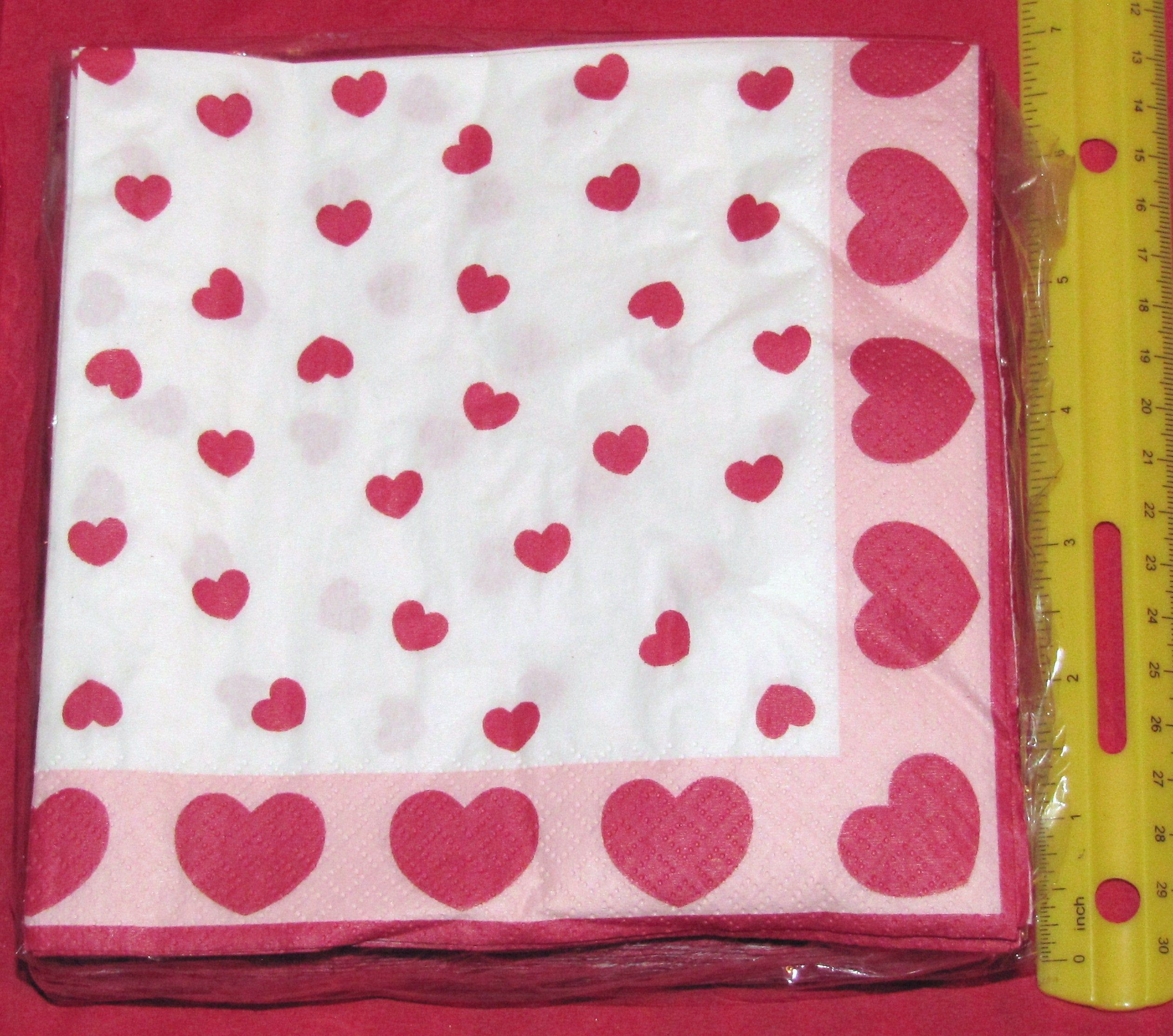 Sweethearts Luncheon Napkins 50/pk #21234, Heart Napkins, Valentine Paper Napkins #papernapkins