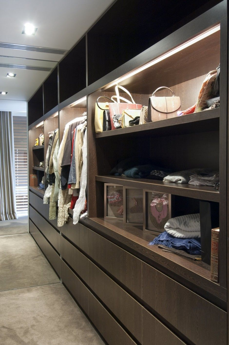 wardrobe lighting ideas. Recessed Channel Lighting Niches Work Beautifully In A Contemporary Closet Design. Wardrobe Ideas L