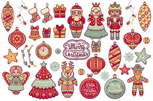 Christmas Iconography.Christmas Toy Icon Bundle Bonus By Zoya Miller On