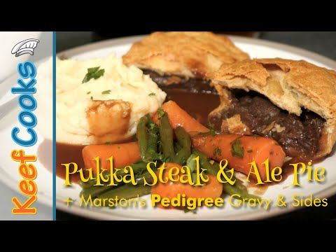 Pukka Steak & Ale Pie with Marston's Pedigree Gravy and ...