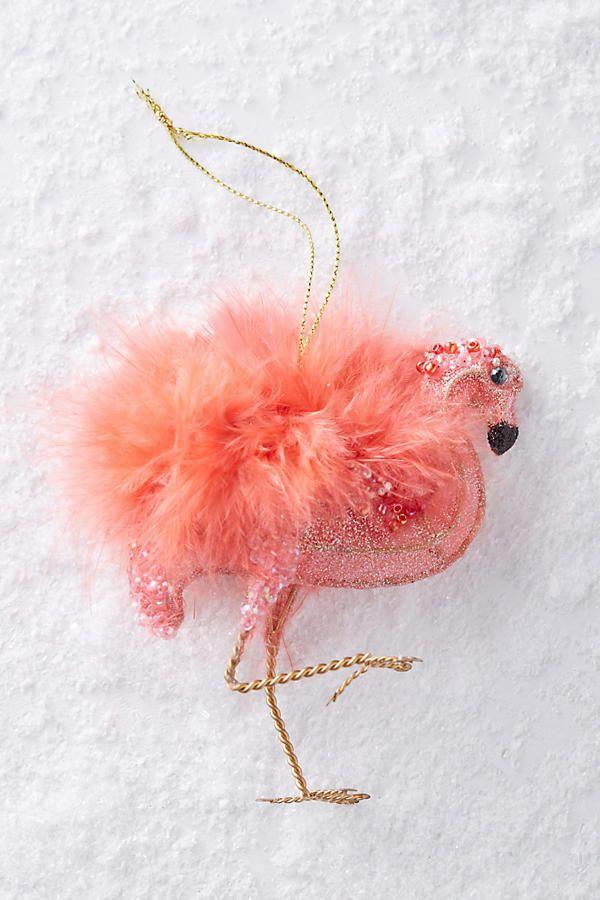 Plumed Flamingo Ornament With Images Flamingo Ornament Flamingo Christmas