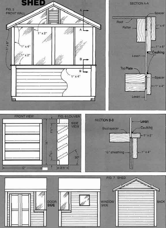 Shed Building Plans Eaves