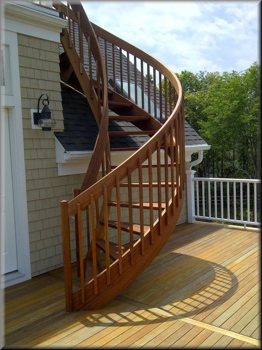 Best Mahogany Exterior With Square Unique Spiral Stairs 400 x 300